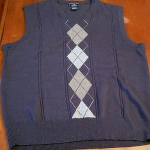 Levi Docker's Sweater Vest Black/Grey Argyle S EUC